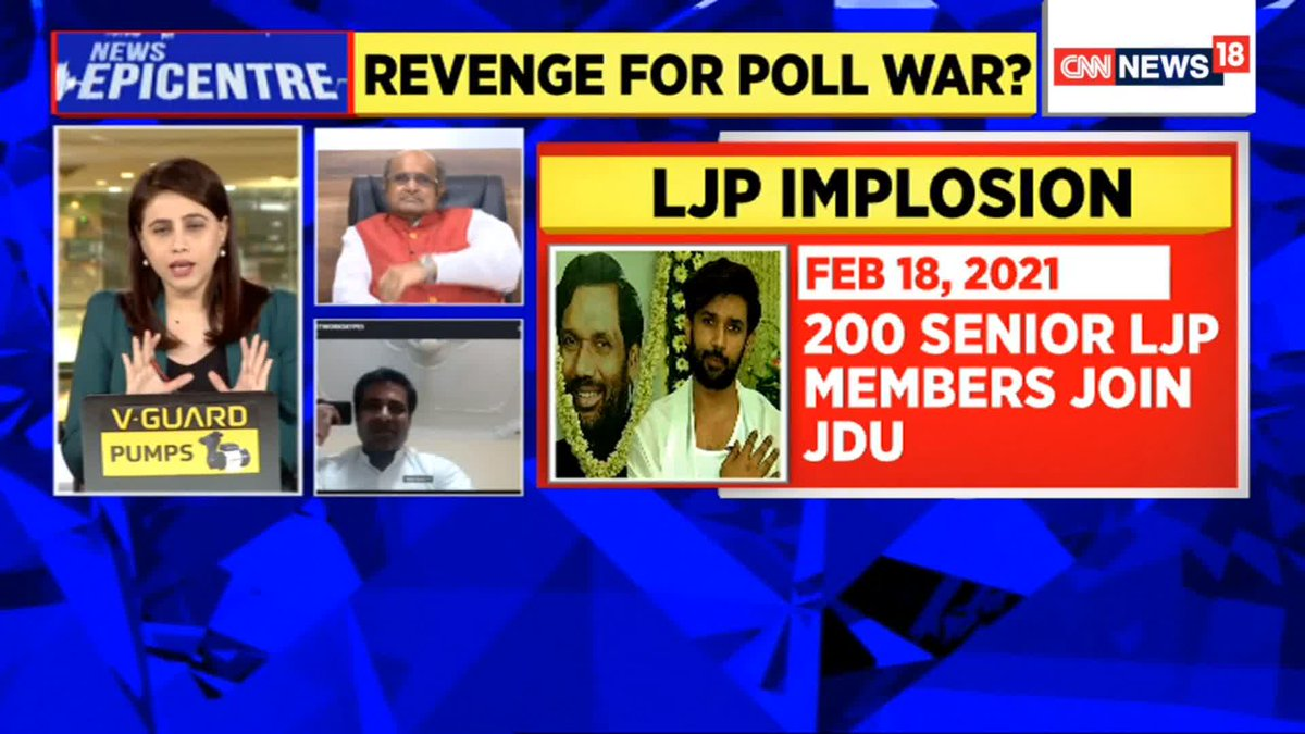 The whole thing is a conspiracy by the BJP: Sarika Paswan (Spokesperson, RJD) on LJP split  Watch #NewsEpicentre with @maryashakil https://t.co/fzjlAsl9dC