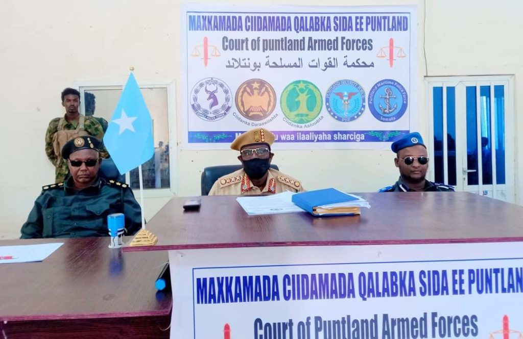 The court of #Puntland's armed forces sentences 17 Al-Shabaab members to death, 1 slapped with life in prison on Monday in Galkayo.  They are a network of terrorists accused of killing up to 300 people in #Somalia's central city & other parts of #Puntland for the past 13 years. https://t.co/OkMQG7Ilww