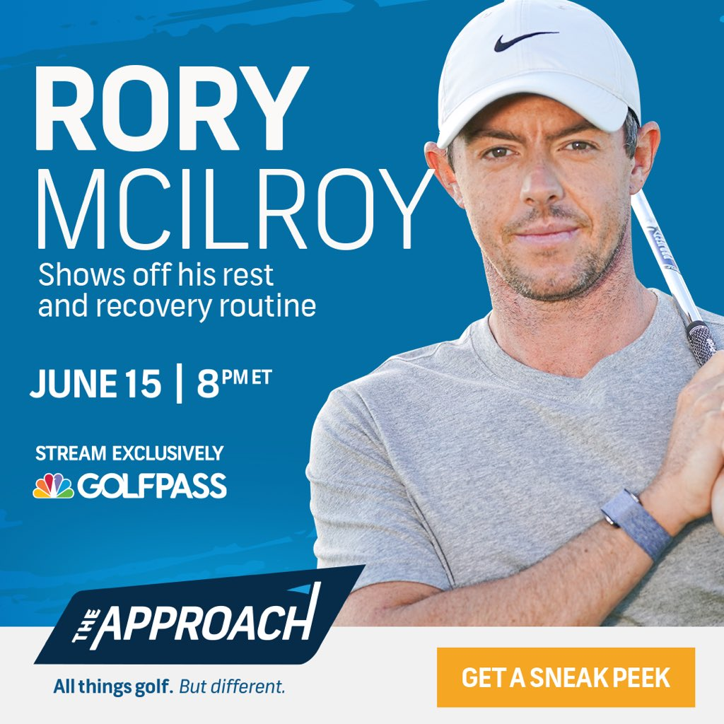 Join me, Macklemore, Rory McIlroy and others Tuesday June 15th@ 8pm for The Approach, streaming live on @golfpass. Preregister free using this link: https://t.co/E8WNYwm06e and be entered to win a @Troon Golf Vacation! #theapproach #whatsyourapproach https://t.co/LvdOxOwIFB