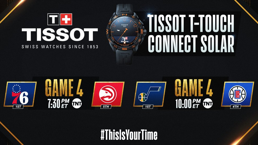 The #NBAPlayoffs continue tonight with a doubleheader on TNT! #ThisIsYourTime   🛒 Shop @TISSOT Here: https://t.co/IBgyQ5djCs https://t.co/KZGiwMAjmA