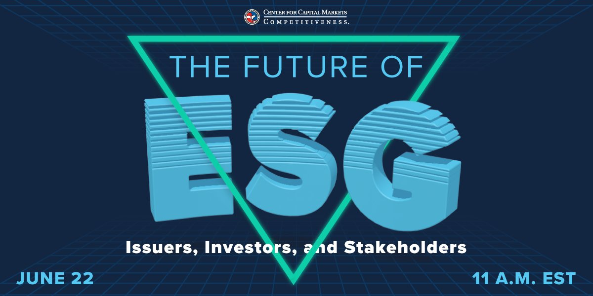 test Twitter Media - Please join CCMC on June 22 at 11:00 a.m. ET, for an event marking the first in a series on the future of ESG (environmental, social, and governance) policy and investing. Register Now https://t.co/29Kd7sbvgq https://t.co/PTfbcy2OhW