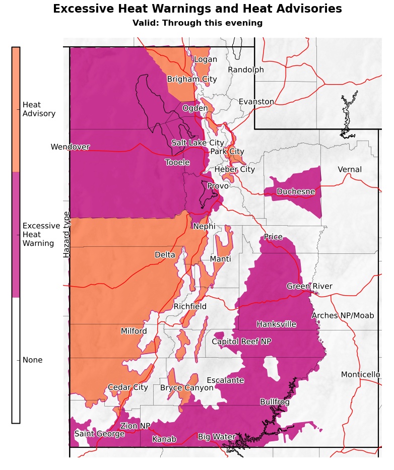 Image posted in Tweet made by NWS Salt Lake City on June 14, 2021, 2:54 pm UTC