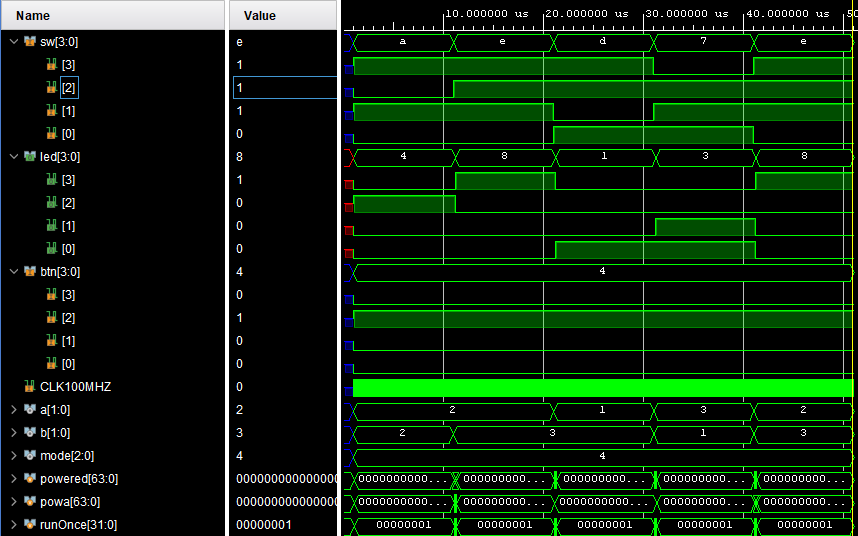 5 Function calculator implemented on an FPGA using #systemverilog HDL: add (A+B) sub (A-B) mult (A*B) div (A/B) exponent (A^B) - ** 2bit A and B inputs ** 4bit Output ** 100MHz Clock (going to optimize vars later) #FPGA #embedded #programming #coding #make #iot #microcontroller https://t.co/xyWq6rCoFH