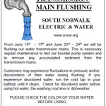ALERT! Please note transmission water main flushing will begin this week! #sono #water