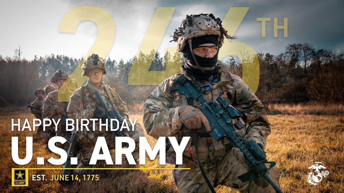 Happy Birthday, Army! #ArmyBDay https://t.co/fOqXeL4bQr https://t.co/zfcFzJcMwU