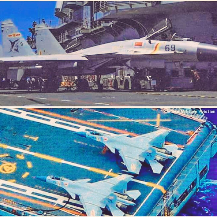#PLAN J-15 ,With no. 74 - seen here together with no. 67 - and no. 69 are again three more J-15s confirmed ...  also no. 74 is the so far highest number seen.  Images via Huitong's   #China #PLA #PLAAF #ISI https://t.co/HfGw0spHtB
