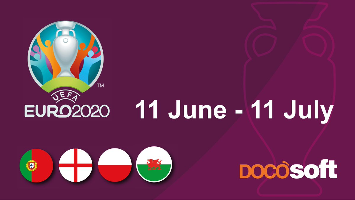 Following the #EURO2020 kicking off on Friday, we are getting in the mood and excited to hold our very own #sweepstake. @DOCOsoft we like to have #fun while we #work! Proud to be #supporting our employees and clients from #Poland #Portugal #England, and #Wales  #letthegamesbegin https://t.co/P23EwKnHsd