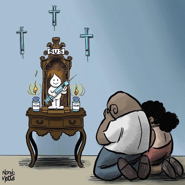 Viva ao Santo SUS 🥰❤️👏  #SUS  #VivaOSuS  #VacinacaoEmMassa  #vacinajá  #COVIDー19  #ForaBol卐onaroGenocida https://t.co/uoh3bTuRRp