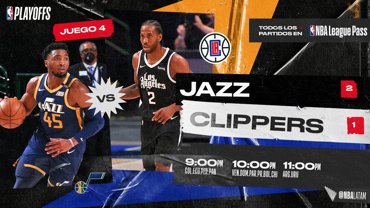 RT @NBALatam: ¿Podrán los Clippers igualar la serie ante Utah Jazz? 👀🤩  #NBAxLeaguePass: https://t.co/RK9EOGEXJF https://t.co/08kHig8Em5