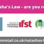 Image for the Tweet beginning: Natasha's Law - are you