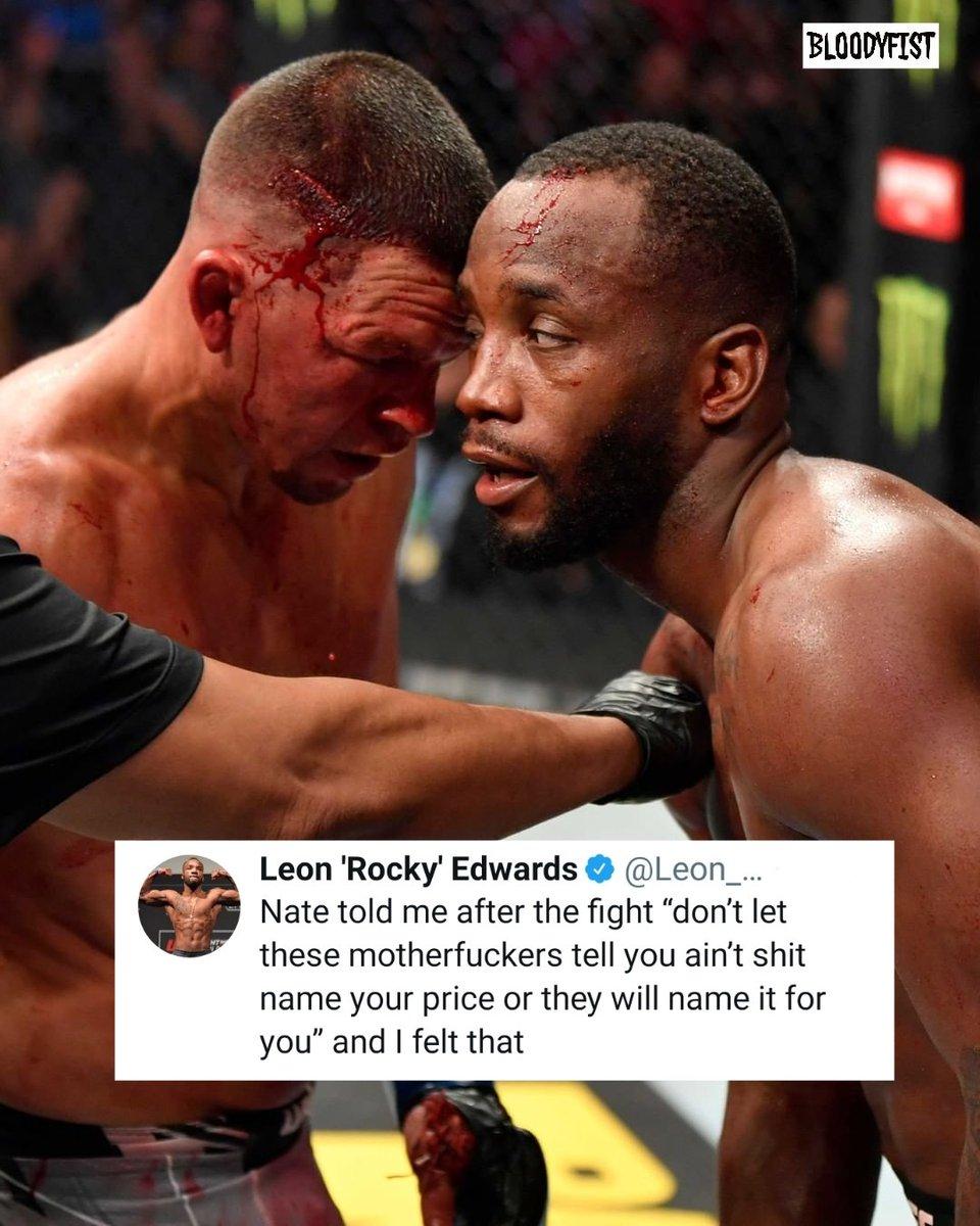 @NateDiaz209 shared some knowledge with @Leon_edwardsmma.  #UFC263 #leonedwards #natediaz #adesanyavsvettori2 #figueiredovsmoreno2 #edwardsvsdiaz #middleweightchampion #flyweightchampion #mma #ufc #boxing #bjj #muaythai #kickboxing #jiujitsu #fitness #martialarts #wrestling #KO https://t.co/VKS65YZcuI