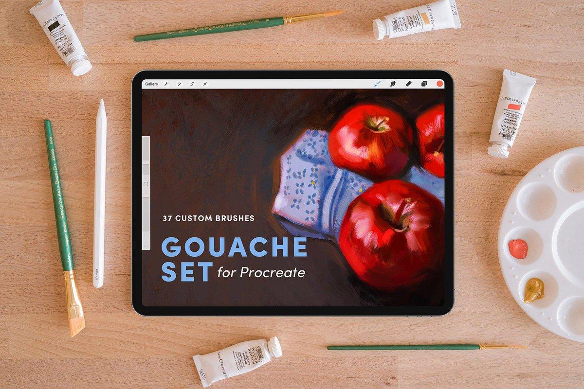 Gouache Set – Procreate Brushes https://t.co/zwiZ5urkNF  #Procreate #glitter #ipad #brushesforprocreate #Procreate #ProcreateTips #ProcreateTricks #ProcreateAddon #Procreate #patterns #ProcreateBrush https://t.co/WgvlAkRU1w