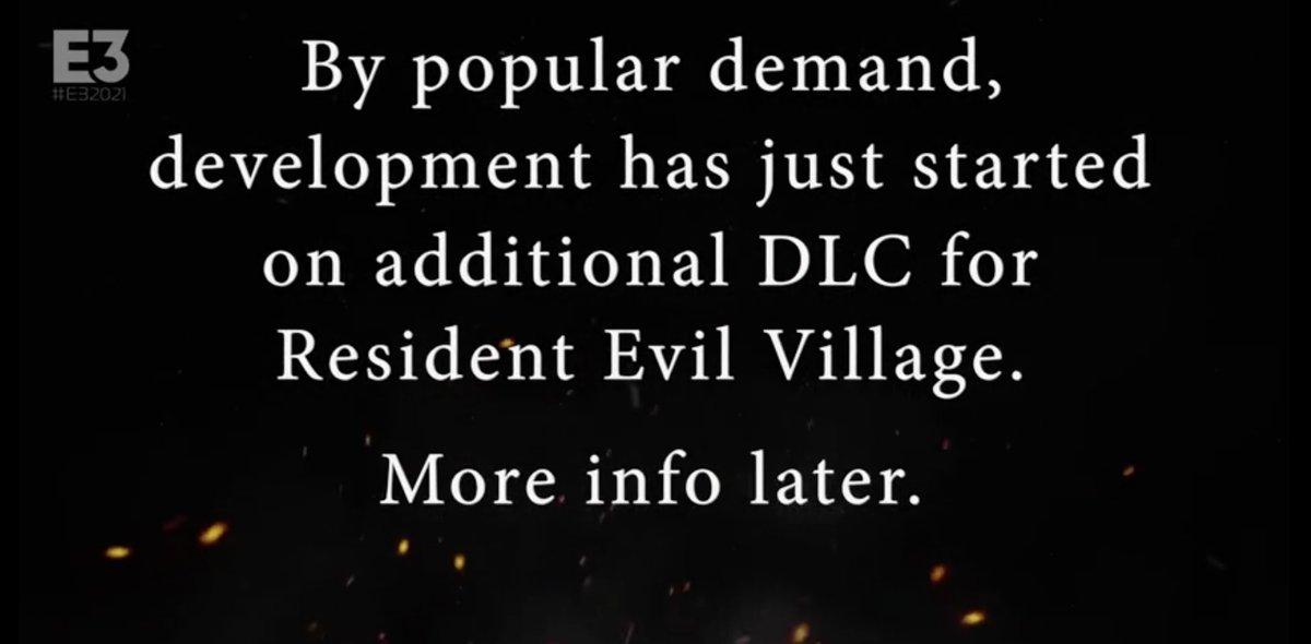 RT @GameSpot: Resident Evil Village announces new DLC at #Capcom #E32021 Showcase! Let the fan theories begin! https://t.co/2vGQdVtaCu