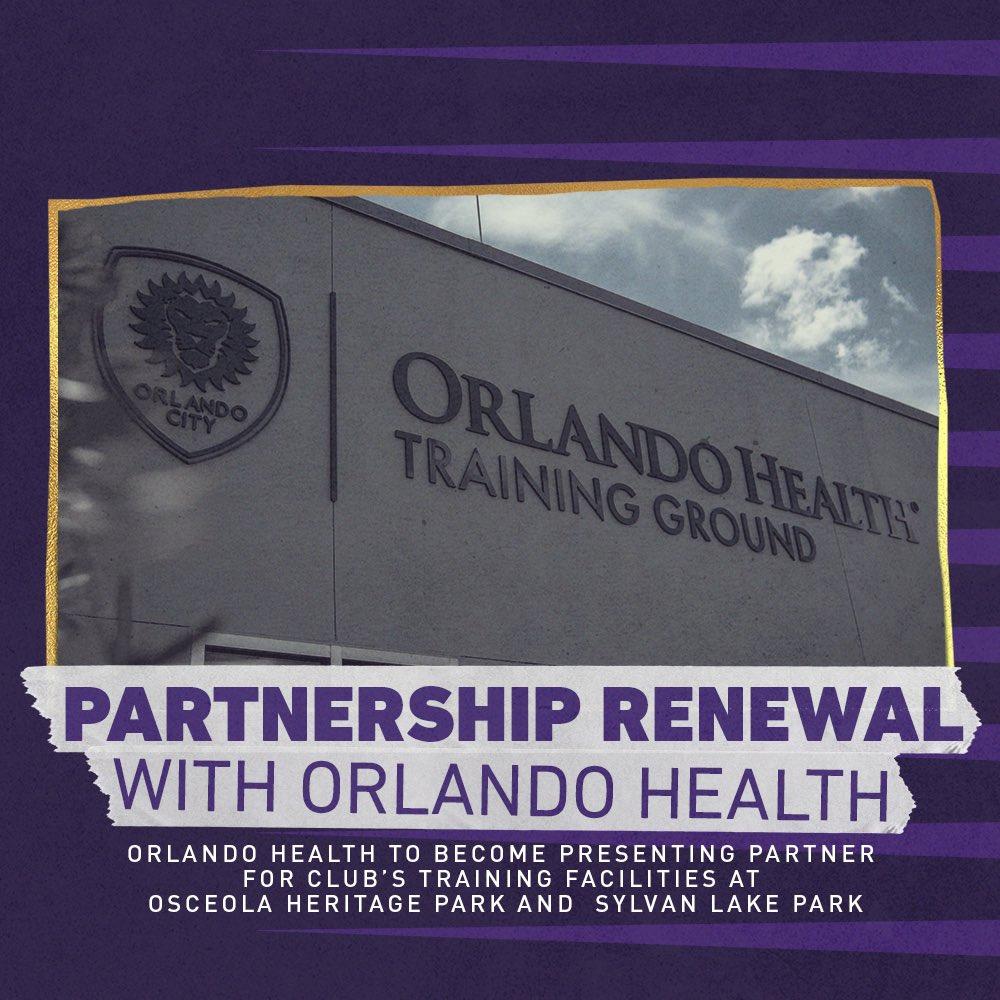 NEWS: Orlando City SC & @orlandohealth Announce Long-Term Partnership Renewal, Training Ground Naming Rights.   Full details: https://t.co/YGdiOpbL78  #VamosOrlando https://t.co/pT4PeKwII0