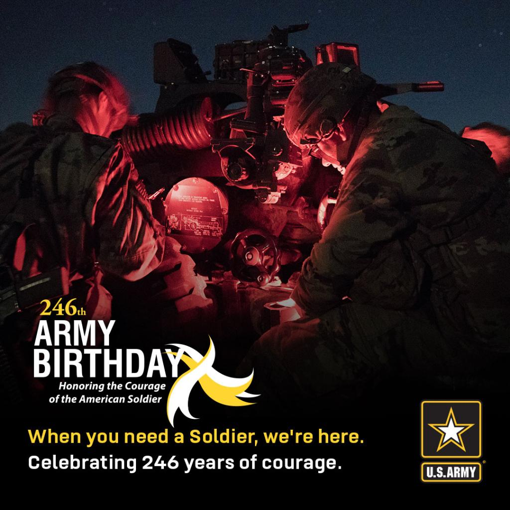 🎂 HappyBirthday! 🎂   This year marks 246 years of America's Army serving and protecting our nation.  Today, we honor the legacy and traditions of the #USArmy and our Soldiers!  ➡️ https://t.co/rSdVUGrjm1  #ArmyBday | #ProudtoServe https://t.co/Wl6EGvcy0o