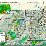 Image for the Tweet beginning: Radar Update: Scattered showers and