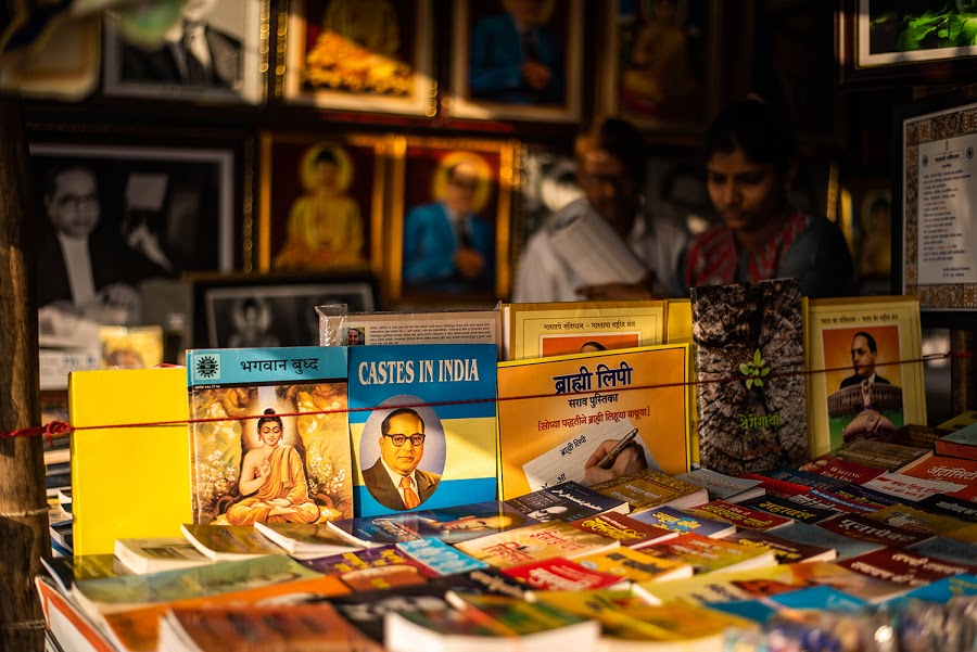 """Replug   """"At Chaitya Bhoomi, where Ambedkar was cremated, stalls sell his books all year. I was looking for a copy of Riddles in Hinduism. One seller did not have it, but immediately offered his personal copy. 'You can return it after reading,' he said."""" https://t.co/uXA5HOdcKt https://t.co/9v42KwaRWV"""