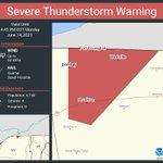 Image for the Tweet beginning: Severe Thunderstorm Warning including Brushton