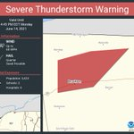 Image for the Tweet beginning: Severe Thunderstorm Warning continues for