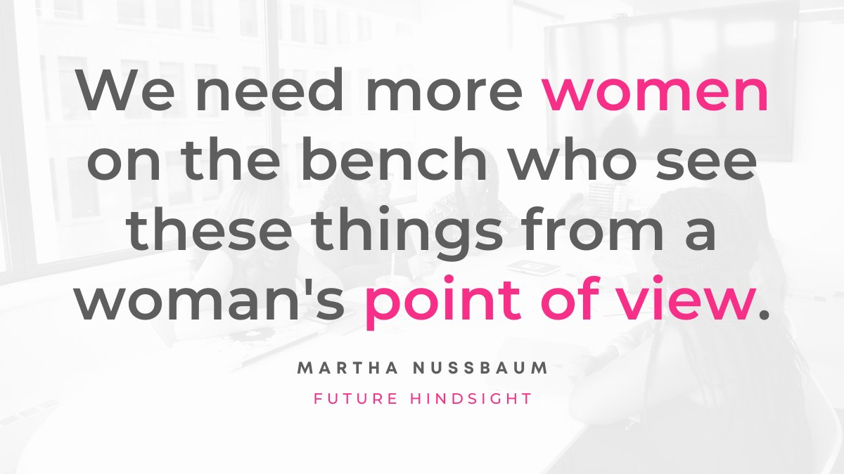 It's important to hear from the point of view of multiple women, not just one woman, especially in the court. @milaatmos speaks with Martha Nussbaum of @UChicagoLaw, author of #CitadelsOfPride, for more. Tune in! https://t.co/2oKtztndaI https://t.co/eRtGGJgWg2