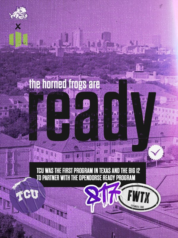 Preparing our student-athletes for the new era. 🐸⬆️  #GoFrogs x @opendorse https://t.co/MIBeXe0lqp