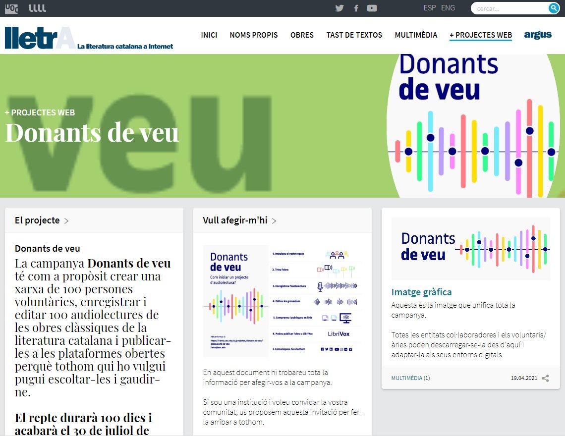Image for the Tweet beginning: Es busquem #DonantsDeVeu per aconseguir