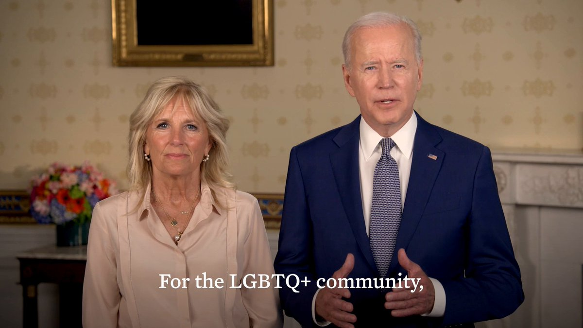 Jill and I want to wish everyone a happy Pride! To the LGBTQ+ community: know we are proud to stand with you this month and every month. https://t.co/JE6yFUDU86