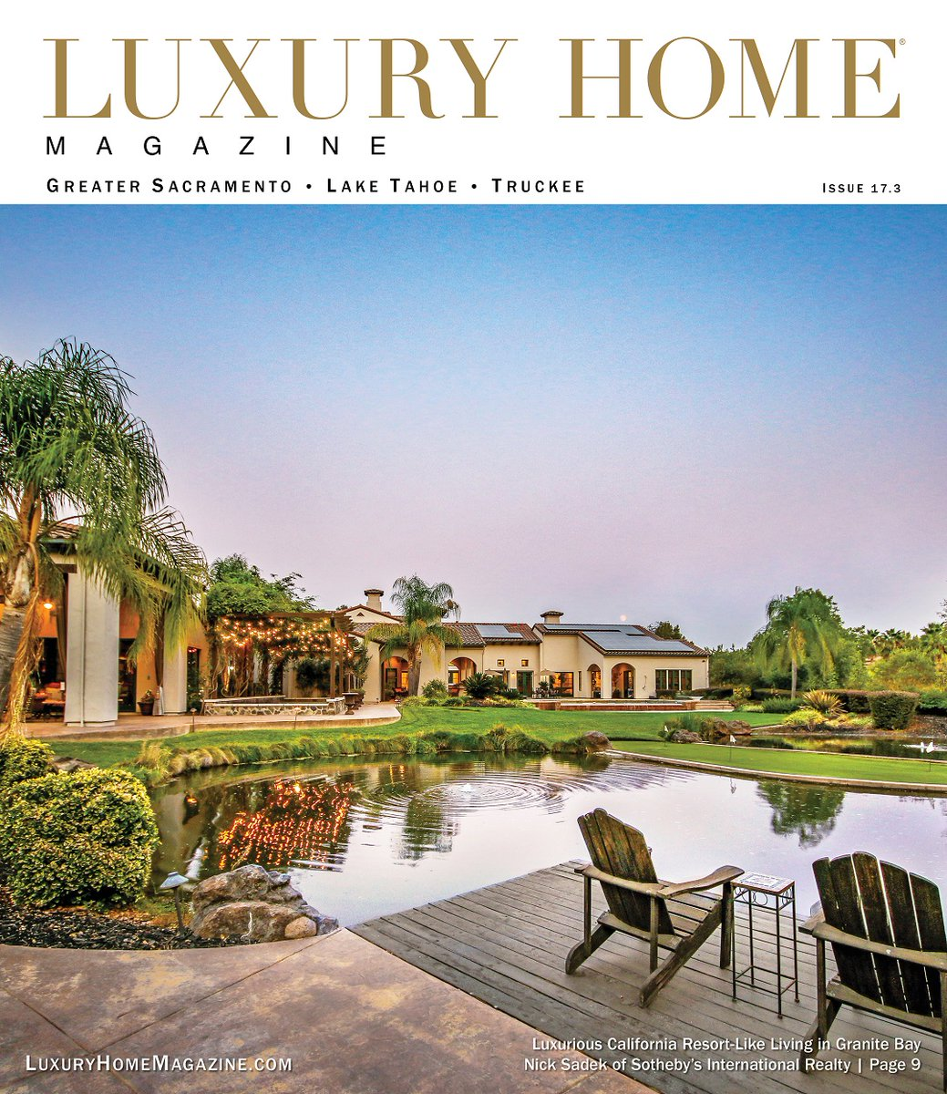 LHM Greater Sacramento Issue 17.3 has officially been released! Check it out at: https://t.co/xRXKOCTfHW Presented by: Nick Sadek   Nick Sadek Sotheby's Intl RE Front Cover Photography: Holly Daley  #luxury #home #magazine #realestate #realtor #design #architecture #california https://t.co/tZuIdnHgLm