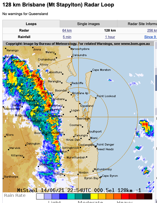 Thunderstorm moving through #Brisbane area - weird given unusually cold June temperatures in the last week or so #WeatherGeek https://t.co/CFSlo6UVrh