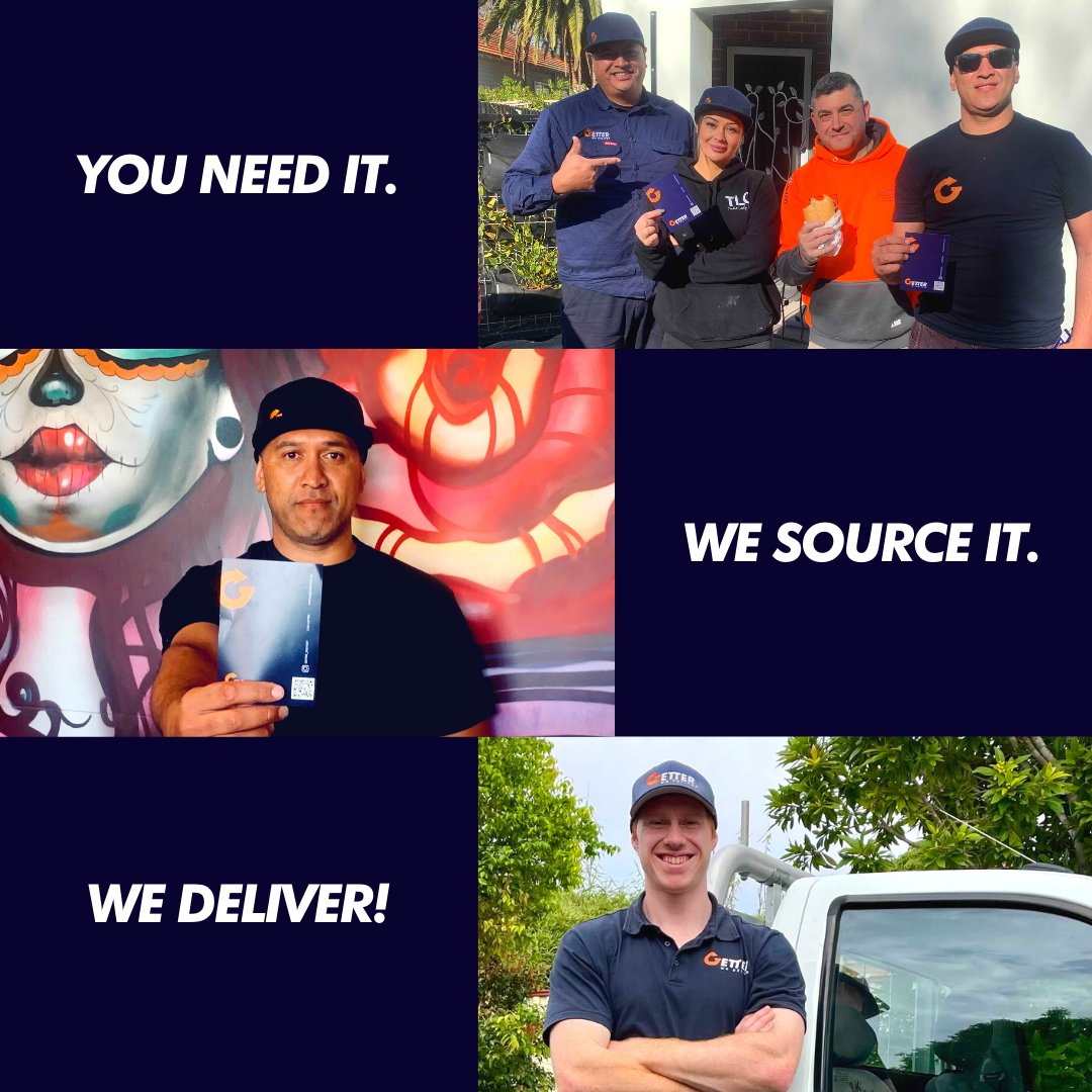 Have lots to do on-site after the long weekend? No worries!  We can source. We deliver.  Call 1300 GETTER or Download the #GeterApp for free. https://t.co/WHucag0aDx  #getterdelivery #construction #aussietradie #melbourne #sydney #brisbane #chippy #tradieclub #supportlocal https://t.co/Tz3YRZtBJi