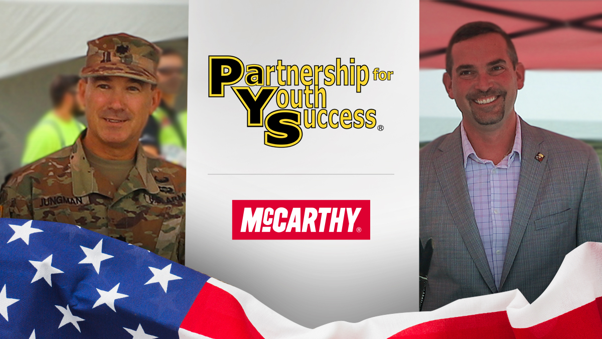 It's official! McCarthy and @ArmyPaYS are now partners. We'll be working together to offer even more #veterans and soldiers #construction employment opportunities after their service commitment ends. #TopTalent #HireAVeteran #ArmyBirthday #ArmyBday #FlagDay https://t.co/MUO4iMInv5