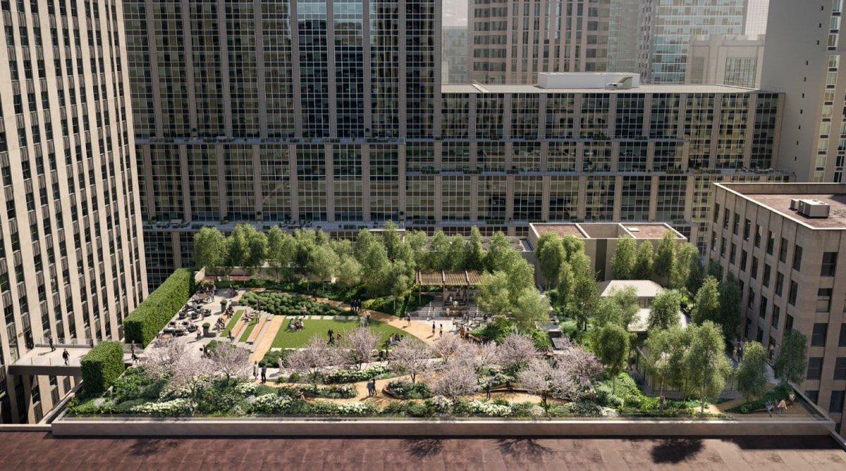 Rooftop Park (Radio City Music Hall), Manhattan • #architecture #america #unitedstates #unitedstatesofamerica #us #usa #newyork #city #newyorkcity #nyc #manhattan #construction #infrastructure #development https://t.co/HfqGeBYr6V