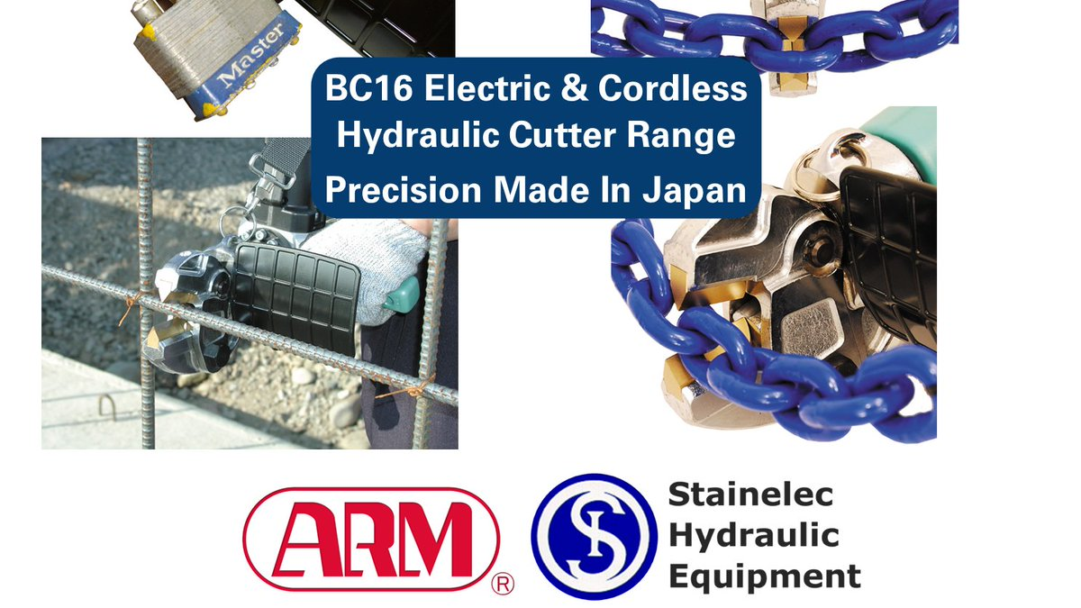 Take your workplace safety to the next level with the BC-16 cordless & electric hydraulic cutting range. Check out our range today! https://t.co/BtD0cGIlRn #chain #locks #industrial #construction #powertools #tools #safety #manufacturing #stainelec #hydraulic https://t.co/0pNCtRddcC
