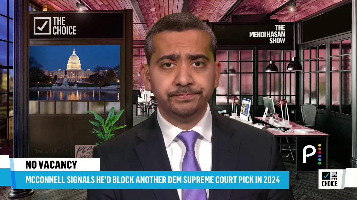 82-year-old Supreme Court Justice Stephen Breyer is facing new calls to retire after Sen. Mitch McConnell revealed he would block a Biden nominee in 2024. @mehdirhasan has thoughts: https://t.co/iPiFKRpplt