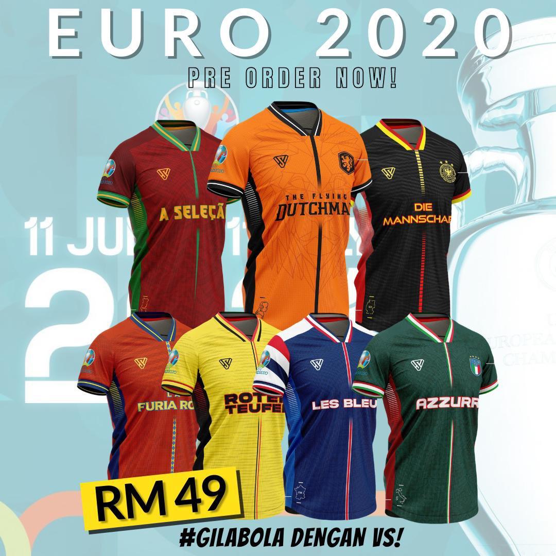 SELAMAT PAGI !  Nak share baju concept jersi rekaan eksklusif @VarsitiSukan untuk #EURO2020 ni…   Jom lah beli! 😬  RM49 sahaja !  Tempah di sini : https://t.co/EycAClnNRc https://t.co/3lpnGs54bp