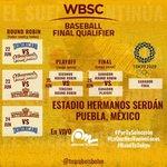 Image for the Tweet beginning: #Preolímpico • Así jugará el @TeamBeisbolVe el