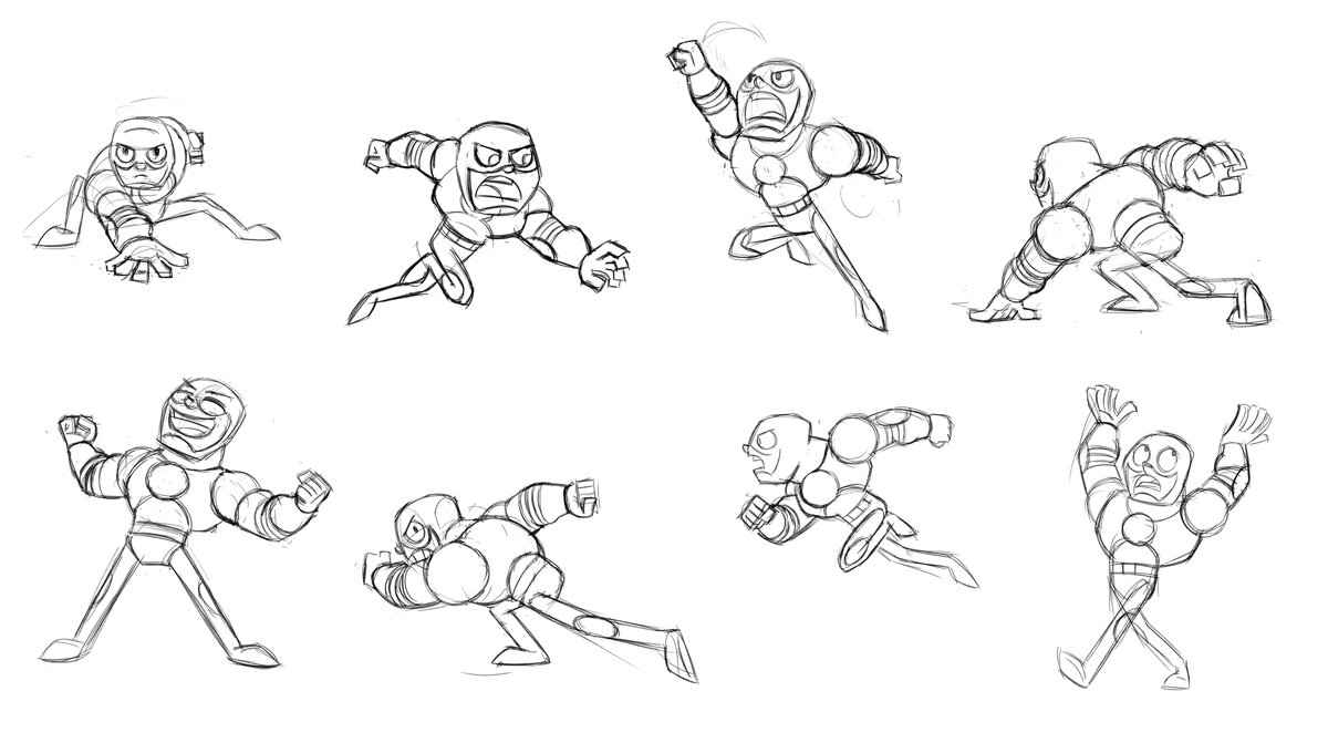"""Here's another """"Teen Titans Go!"""" style character. I've had no time to go in and clean these up yet. Soon, hopefully.  #modelsheets #teentitansgo #characterdesign #characterdesigns #batmantheanimatedseries #characters #cartoons #art #design #illustration #cartooning #character https://t.co/qPZl2FtxKf"""