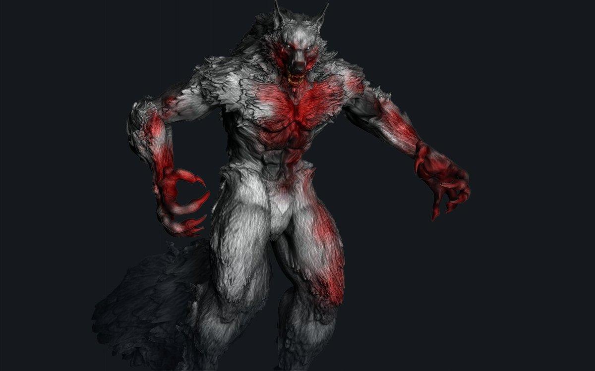 render test #blender #wolf #werewolf #monster #fur #canine #design #fantasyart #character #conceptart #characterart #characterdesign #creature #zbrush https://t.co/T82pHbnAw3