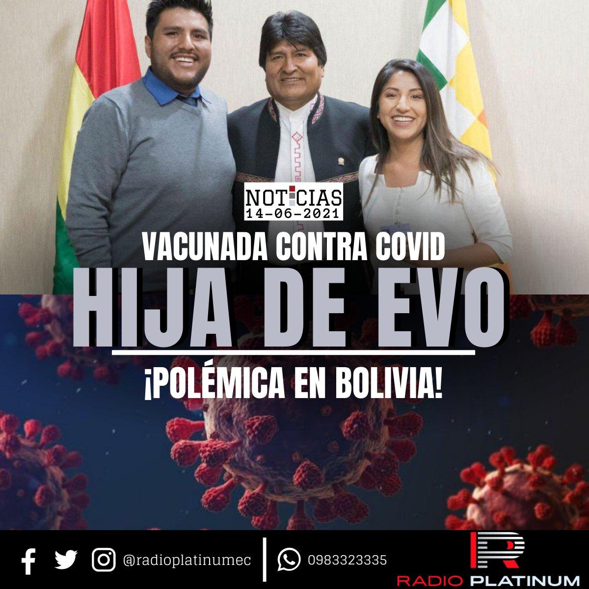 Portales verificadores bolivianos han confirmado que #EvalizMorales, hija del expresidente #EvoMorales, recibió la primera dosis de la vacuna contra la #covid_19 el 24 de mayo, fuera del calendario de inmunización por edades previsto por las autoridades del #país andino. https://t.co/CHIDhgez39