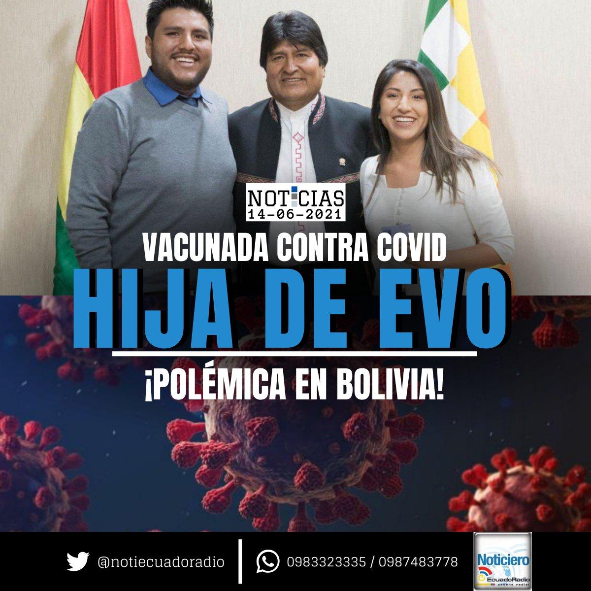 Portales verificadores bolivianos han confirmado que #EvalizMorales, hija del expresidente #EvoMorales, recibió la primera dosis de la vacuna contra la #covid_19 el 24 de mayo, fuera del calendario de inmunización por edades previsto por las autoridades del #país andino. https://t.co/3RBb0lmJ3m