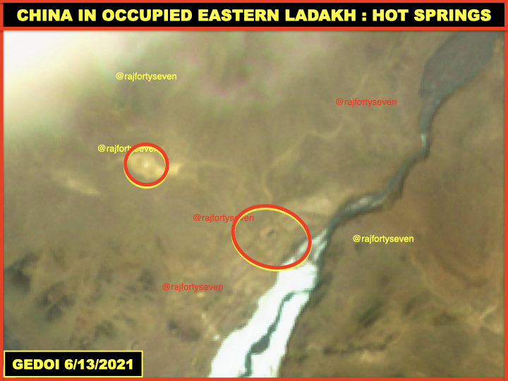 #China in #occupied #EasternLadakh. #LestWeForget #IndianArmy #Galwan martyrs. #HotSprings area #CCP's #PLA troops remain 2.5km inside #India beyond #Chinese claimed areas. Probably under the garb of monitoring party. https://t.co/WvzvqwAKpp