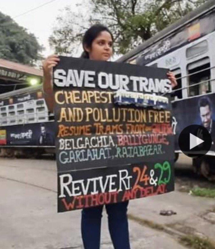 #KolkataTrams are the glory of #India🇮🇳,#PollutionFree & considered as one of the best modes of #transport Worldwide. Let's Unitedly raise our voice 2  #SaveKolkataTram & our #Heritage  @MamataOfficial @swastika24 @vanessa_vash @KaoHua3 @HansrajMeena @disharavii @FFFIndia @_CTUA_ https://t.co/Hw6k1TBGyA