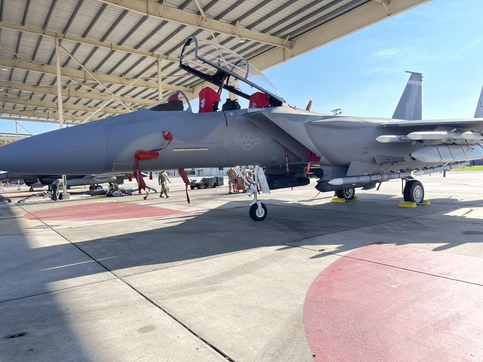 F-15EX armed with AIM-120