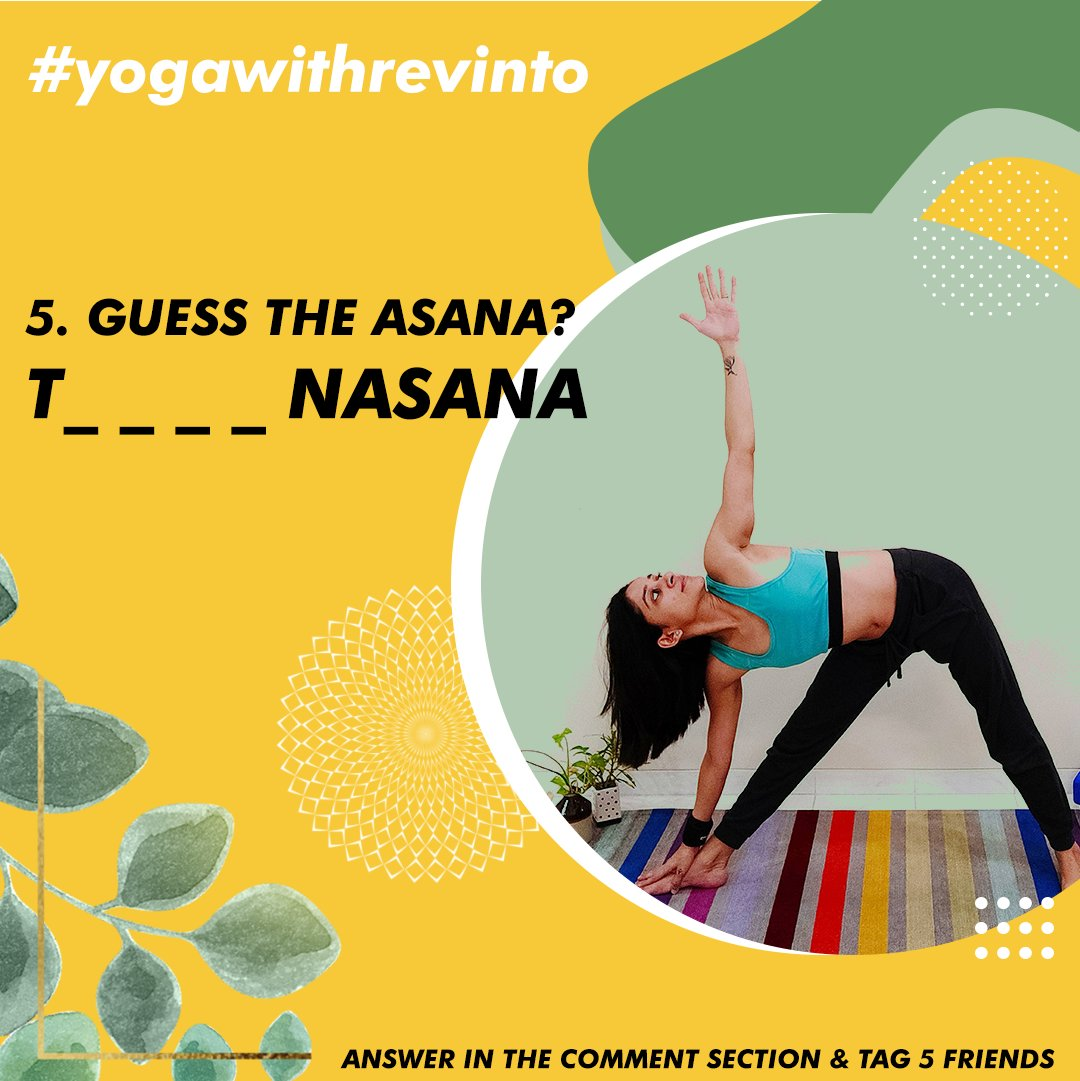 4. GUESS THE ASANA? Follow Us & Yoga With Malvika Answer in the comment section & tag 5 friends Winner picked Via LUCKY DRAW. #yogawithrevinto  #giveaways #revinto #winners  #skincareproducts #contest #promotion  #yoga #fitness #FitnessMotivation https://t.co/d7R8TI0b7l