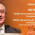 Image for the Tweet beginning: 📌Rui Rio hoje, às 15h00,