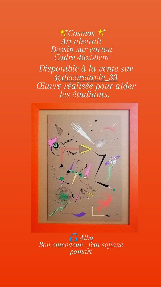 Œuvre exposée au Salon des arts visuels de Lormont @VilledeLormont pour aider les étudiants @ContinuiteB grâce à @DecoreVie https://t.co/yrWGlmINWQ