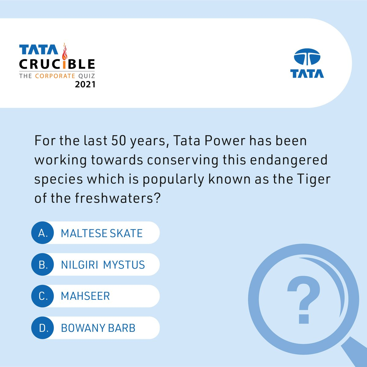 It's time for the weekly#TataCrucibleContest! Just answer this question and stand a chance to win a prize*.#Contest#ContestAlert#SustainabilityMonth *T&C apply. https://t.co/jRt4qM8bHP