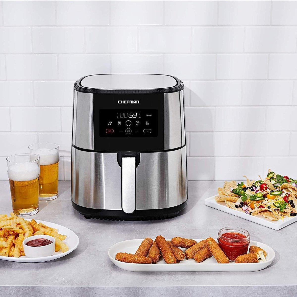 ad: $79.99 (20% off)   Chefman TurboFry XL 8qt Air Fryer