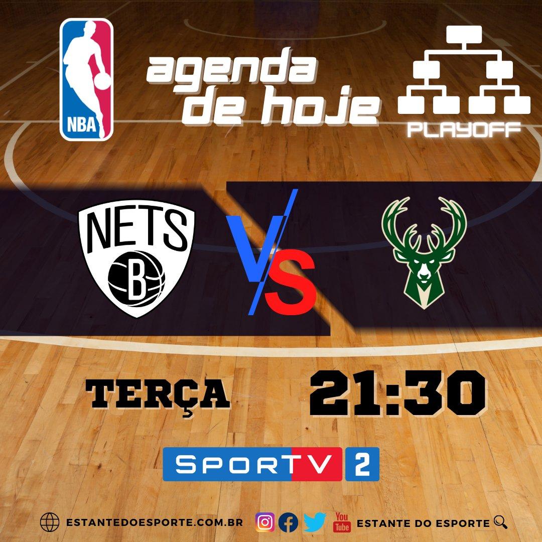 Agenda da NBA 🏀 ⠀ Nesta Terça, confira o jogo aovivo pelo basquete mais famosos do mundo. ⠀⠀ Nets 2️⃣VS2⃣ Bucks  #agendanba #nbatwitter #nbabrasil #nba #nbaaovivo #nbafantasy #nba2021 #nbanatv #SporTV #basquete #NBAnoSporTV #Esporte #NBAPlayoffs https://t.co/sDbup6Xaxc