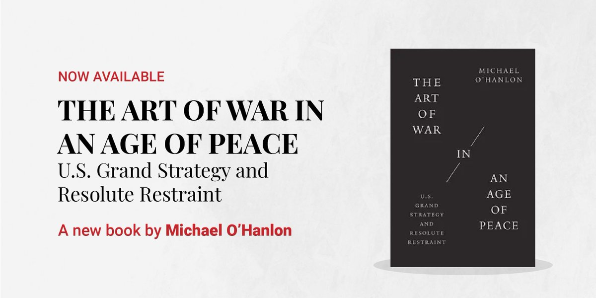 Thanks for following our discussion with @MichaelEOHanlon Michèle Flournoy & @helenecooper. Full video will be available here: https://t.co/XuAkQSHJiL. Learn more about O'Hanlon's new book The #ArtOfWar in an Age of Peace here: https://t.co/994l4nATOd https://t.co/YzPRjpVac2